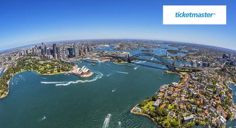 Aerial view of Sydney Harbour, Sydney City